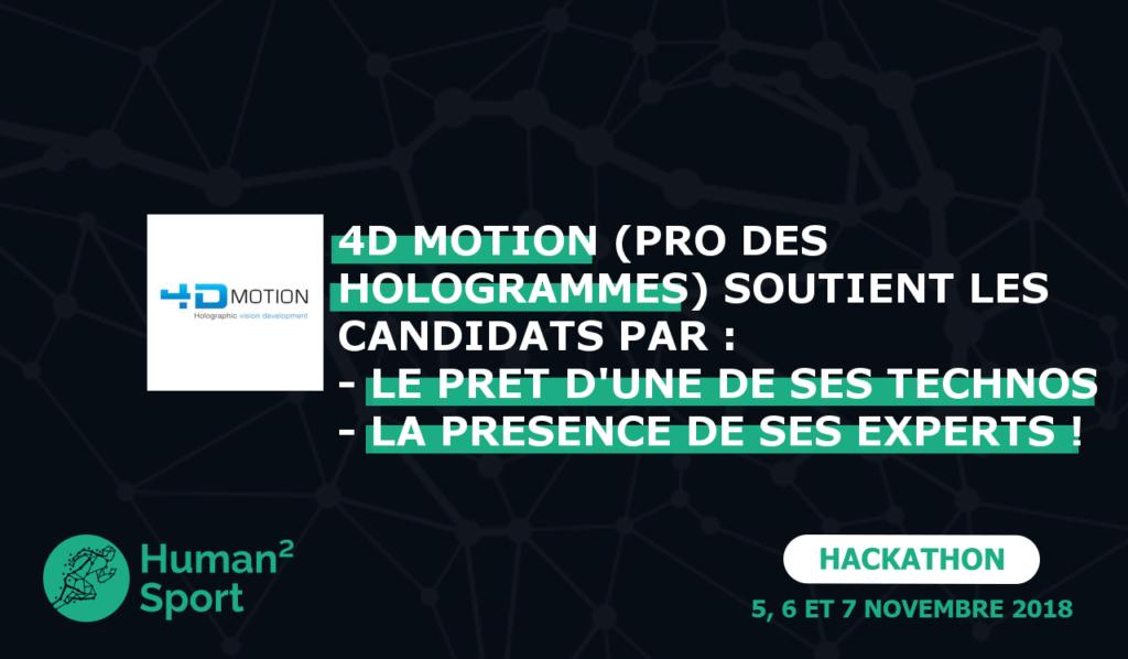 4DMotion, partenaire du Hackathon