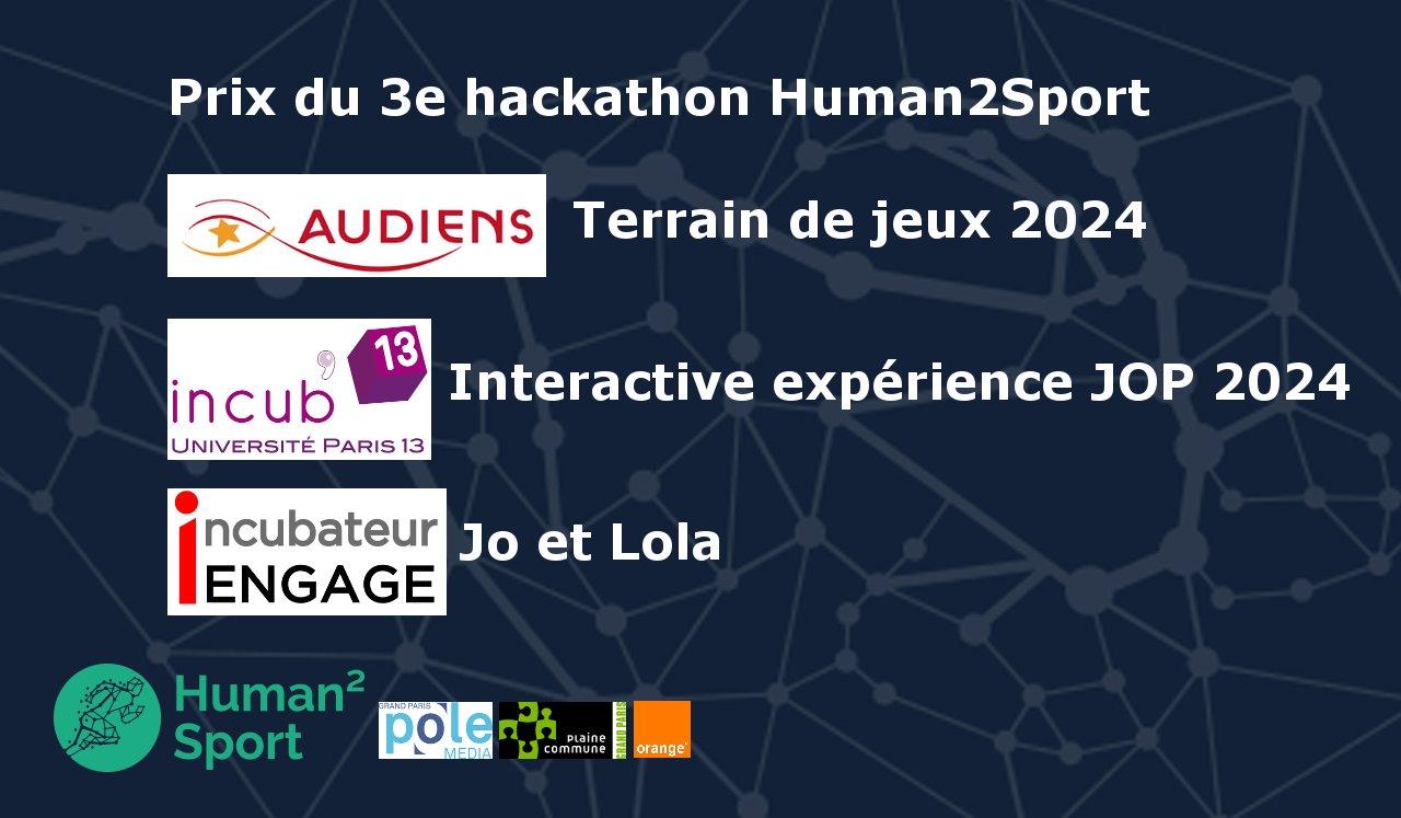 Lauréats du 3e hackathon Human2Sport
